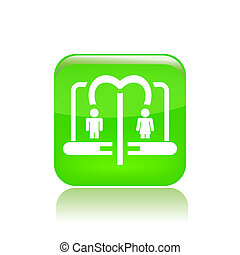 Vector illustration of single isolated social icon