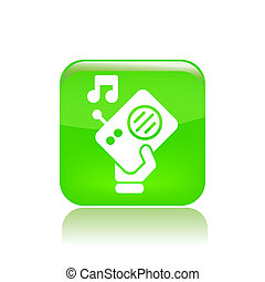 Vector illustration of single isolated radio icon