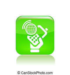 Vector illustration of single isolated smartphone icon
