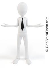 3d man body language concept