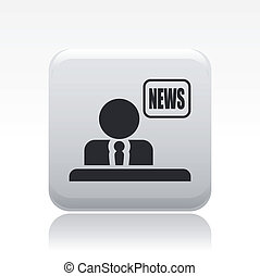 Vector illustration of single isolated news icon