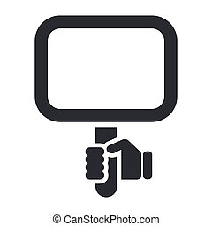 Vector illustration of single isolated cartel icon