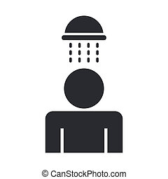 Vector illustration of single isolated shower icon