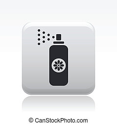 Vector illustration of single isolated spray icon