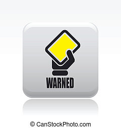 Vector illustration of single isolated warned icon