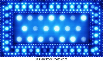 blue glittering light bulbs loopa