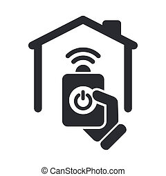 Vector illustration of single isolated remote home icon