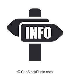 Vector illustration of single isolated info cartel icon