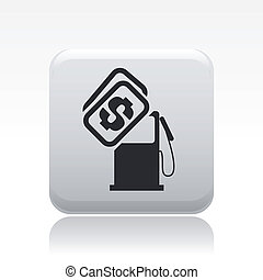 Vector illustration of single isolated gasoline price icon
