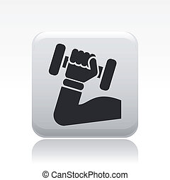 Vector illustration of single isolated gym icon
