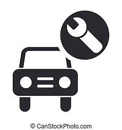 vecteur, Illustration, unique, isolé, voiture,...