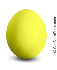 yellow easter egg - a coloured Easter egg isolated before...