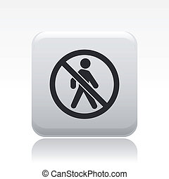 Vector illustration of single isolated forbidden access icon