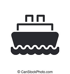 Vector illustration of single isolated boat icon