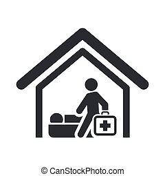 Vector illustration of single isolated medical icon
