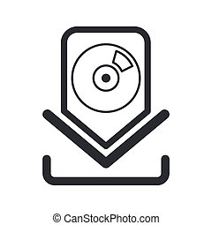 Vector illustration of single isolated download icon