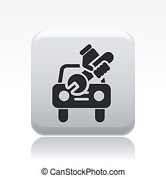 Vector illustration of single isolated car repair icon