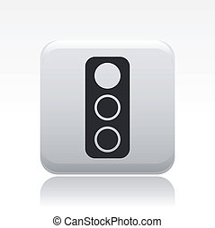 Vector illustration of single isolated traffic light icon