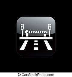 Vector illustration of single isolated level crossing icon