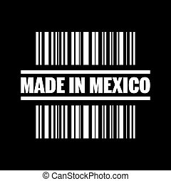 Vector illustration of single isolated made in Mexico icon