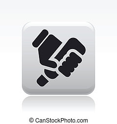Vector illustration of single isolated tube press icon