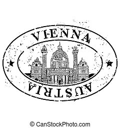 Vector illustration of single isolated Vienna icon