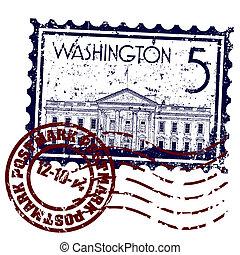 Vector illustration of single isolated Washington icon