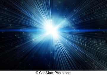 white flash on a star backgroudns - white flash on a blue...
