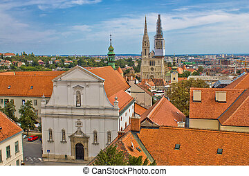 Historic upper town of Zagreb - capital of Croatia