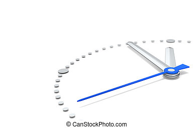 Five to Twelve, Blue Edition - Perspective view of a clock...