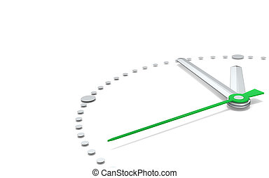 Five to Twelve, Green Edition. - Perspective view of a clock...