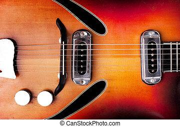 vieux, classique, guitare
