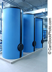 Big boilers - Modern boilers in special room for depositing...