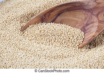Amaranth with Spoon - Healthy amaranth grain, a staple food...
