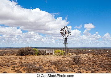 wind mill in Free State, South Africa