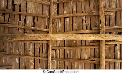 Rural wooden roof - Photo of a Rural wooden roof