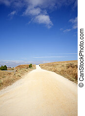 Road, Spanish countryside - Road in the Spanish countryside
