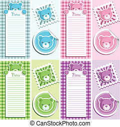 Scrapbook Bear Design Elements - Cute scrapbook baby shower...