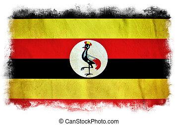 Uganda grunge flag