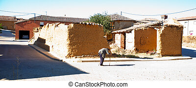 Ruined house - View of Ruined house, Spanish countryside