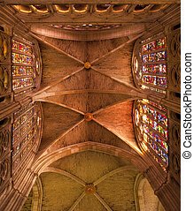Interior of Leon Cathedral, Spain