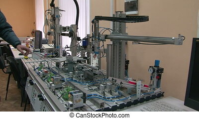 Model of the automated factory