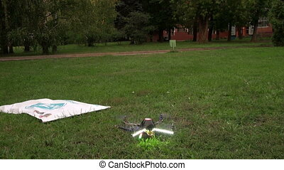 Toy helicopter on the remote control