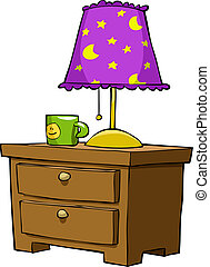 Nightstands on a white background, vector illustration