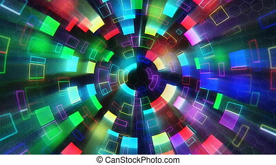 multicolored shiny circular segment - computer generated...