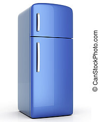 Fridge - A classic Fridge. 3D rendered Illustration....
