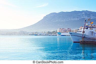 puerto, Mediterráneo,  Mongo,  denia, aldea