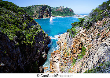 landscape in Knysna, South Africa - landscape in Knysna,...