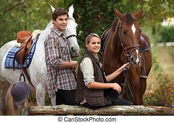 equitación, caballo