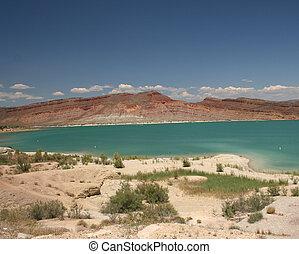 Lake of Bright Blue Water Utah